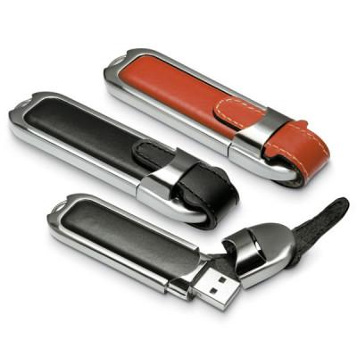 Clé USB étui cuir personnalisable publicitaire