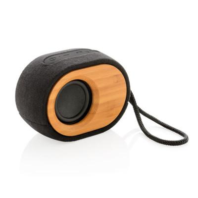 Enceinte Bluetooth Bois bambou personnalisable publicitaire