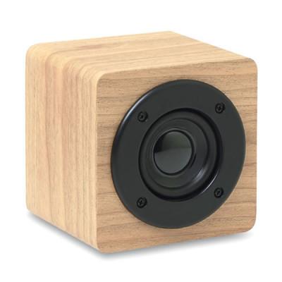 Haut parleur bluetooth bois publicitaire Cube