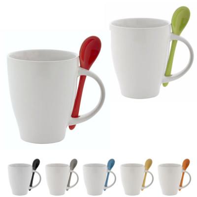 Mug avec cuillère publicitaire personnalisable woony