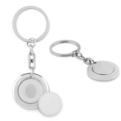 porte-clés jeton de caddie en métal aimanté