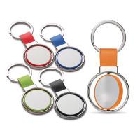 Porte-clés rond personnalisable logo quadri ou gravure