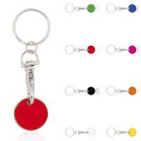 porte-clés jeton de caddie en métal pas cher publicitaire