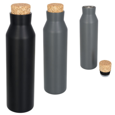 Bouteille thermos personnalisable de 590 ml noir ou grise