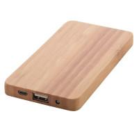 Batterie externe en bambou objet publicitaire Goodies power bank