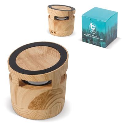 Enceinte Bluetooth en bois objet publicitaire personnalisée