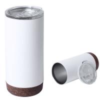 Grand mug isotherme blanc en liège Objet Publicitaire Goodies
