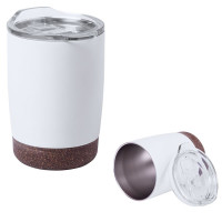 Mug isotherme métal blanc Liège Objet publicitaire goodies