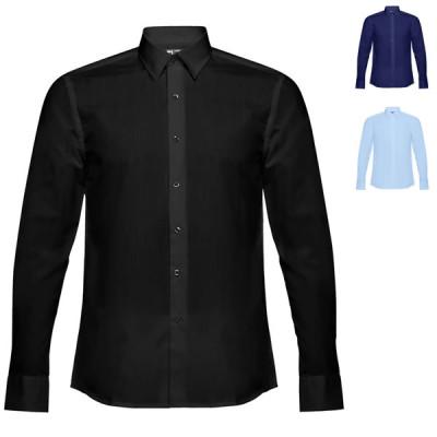 chemise publicitaire homme noire ou bleue