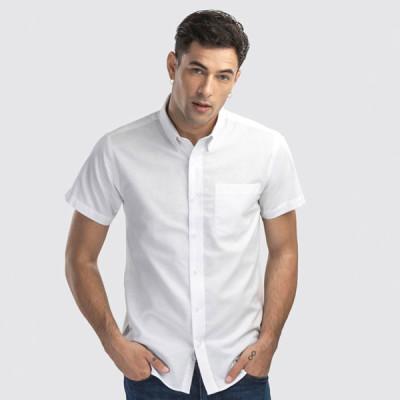 chemise blanc oxford homme manche courte personnalisable publicitaire