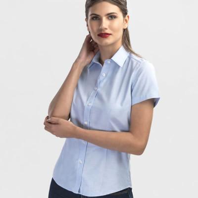 chemise oxford bleue femme personnalisable broderie publicitaire