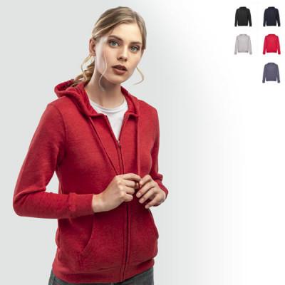 sweat-shirt capuche zippé personnalisable femme publicitaire