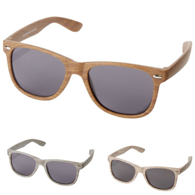 lunettes de soleil en bois personnalisable publicitaire goddies