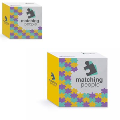 Grand bloc cube papier personnalisé Bloc notes cube objet publicitaire goodies