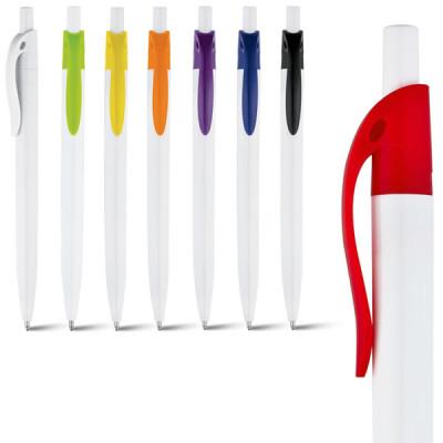 Goodies stylo bille pas cher corps blanc personnalisé