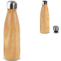 bouteille isotherme imitation bois personnalisé logo entreprise publictaire