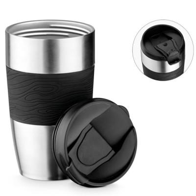 mug isotherme metal argent grave logo entreprise goodies
