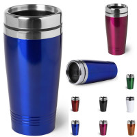Mug isotherme metal personnalise logo goodies publicitaire