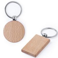 porte-clés bois rond et porte-clés bois rectangulaire