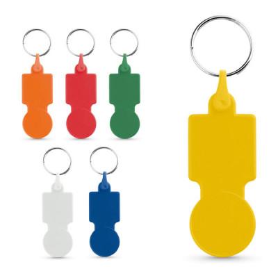 Porte-clés jeton de caddie pas cher publicitaire