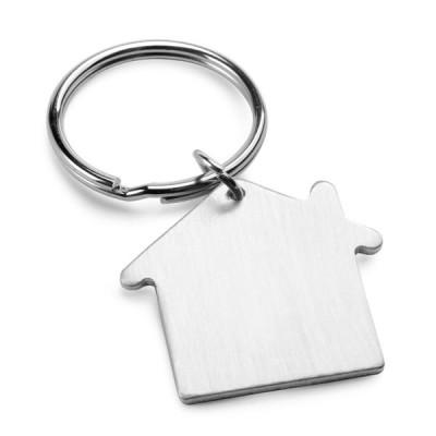 Porte-clés maison agence immobilière en métal publicitaire pas cher