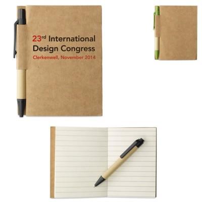 Petit carnet de notes avec stylo personnalisé publicitaire