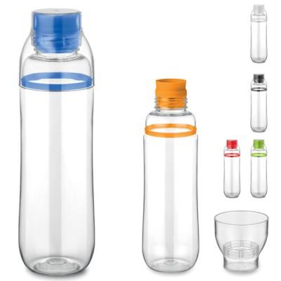 """Gourde bouteille d""""eau personnalisé avec verre tasse 700 ml Tritan publicitaire"""