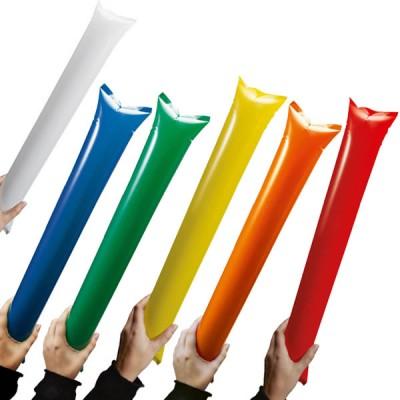 Bâton gonflable supporter personnalisable pas cher blanc bleu vert jaune orange rouge