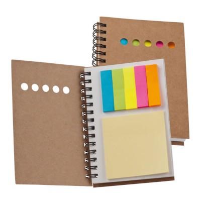 Bloc-notes personnalisé 100 pages et 6 bloc post-it de différentes couleurs publicitaire