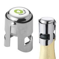 Bouchon de champagne personnalisé pour rebouchage bouteille champagne en métal publicitaire pour restaurant caviste boutique mariage