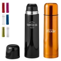 Bouteille thermos personnalisé 500 ml en métal de différentes couleurs : noir, blanc, rouge, vert, bleu orange, rose