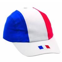 Casquette Bleu Blanc Rouge publicitaire personnalisé pour supporter France