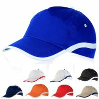 Casquette publicitaire personnalisable pour club sportif et association. Coloris bleu bleu marine orange rouge noir blanc