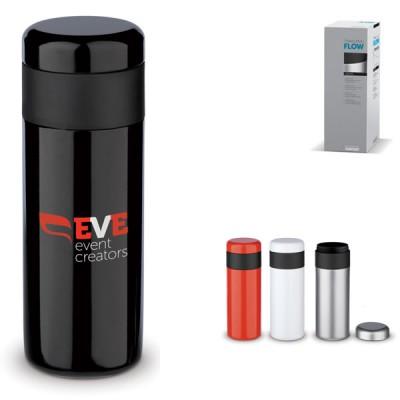 Mug de voyage personnalisé 400 ml noir blanc rouge Travel mug publicitaire