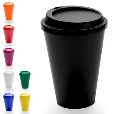 Mug de voyage personnalisé pas cher coloris noir bleu blanc rouge jaune orange bordeaux vert 440 ml