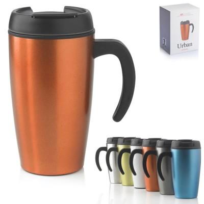 Travel mug personnalisable Urban Mug de voyage 400 ml Noir Blanc Orange bleu Vert Argent