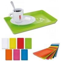 Plateau publicitaire personnalisable gobelet plastique ou tasse expresso