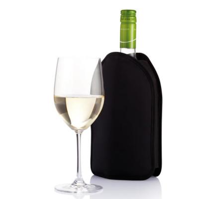 Rafraîchisseur bouteille de vin personnalisé publicitaire coloris : noir bleu argenté