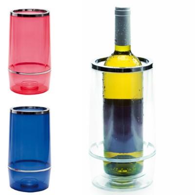 Seau à vin personnalisé pour restaurant en plastique coloré bleu ou rouge ou transparent
