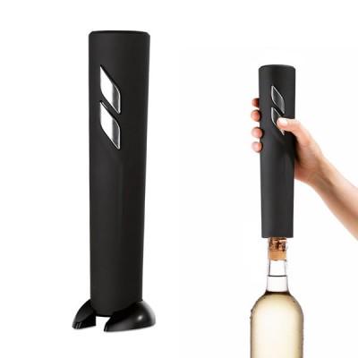 Tire bouchon électrique personnalisé noir. Cadeau publicitaire amateur de vin