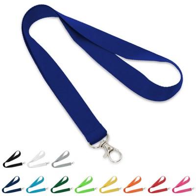 Tour de cou personnalisable pas cher publicitaire 12 coloris : noir blanc gris bleu bleu clair bleu royal vert vert clair jaune orange rouge rose