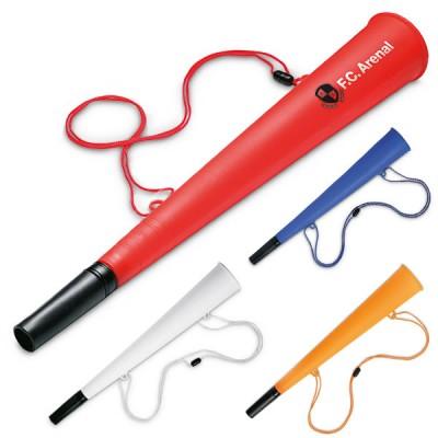 Vuvuzela trompette supporter personnalisé coloris rouge blanc bleu orange