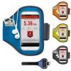 Brassard iPhone smartphone universel personnalisable publicitaire avec poche porte clés, coloris: bleu, vert, orange, noir