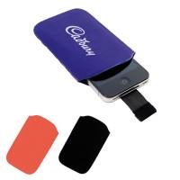 Etui de protection pour iPhone, smartphone et téléphone portable pas cher en microfibre (bleu, noir, rouge) personnalisable publicitaire