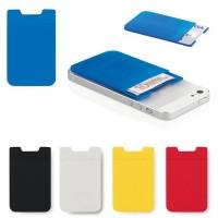 Etui porte cate bancaire, transport, billet, pour iPhone, téléphone portable ou smartphone personnalisé publicitaire coloris : noir, blanc, bleu, jaune, rouge