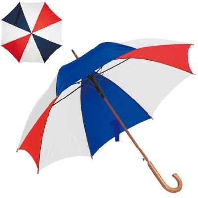 Grand parapluie tricolore bleu blanc rouge personnalisé pour supporter équipe de France