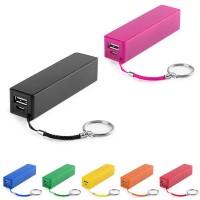 Batterie de secours publicitaire 2000 mAh pour iPhone Samsung. Power bank personnalisé lithium, coloris : noir, blanc, bleu, vert, jaune, orange, rouge, rose