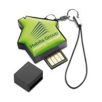 Clé USB en forme de maison publicitaire personnalisé pour personnalisation quadri