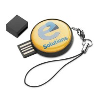 Clé USB de forme ronde personnalisé quadri publicitaire grande capacitée
