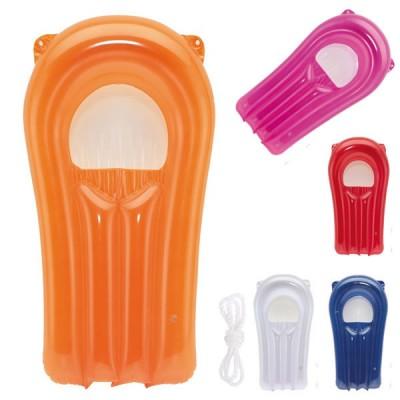Matelas gonflable publicitaire pour plage personnalisable, coloris : blanc, bleu, orange, rouge